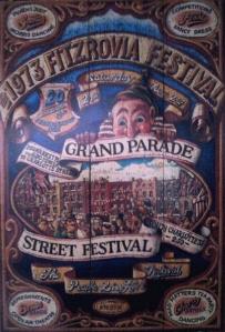 Fitzrovia Festival 1973 poster.